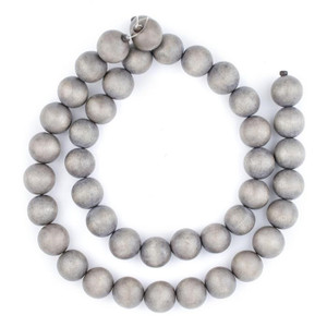 Decorative Wooden Beads in Grey
