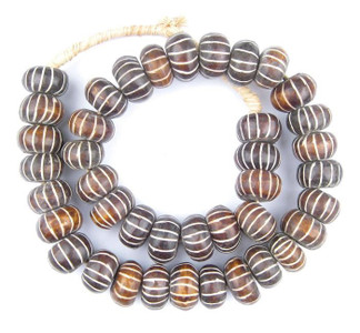 Decorative Brown Striped Beads