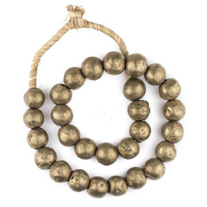 Antiqued Decorative Brass Beads