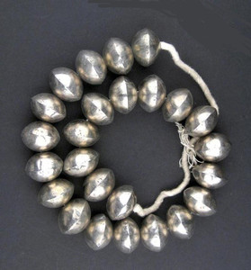 Decorative Large Silver Beads