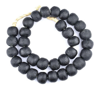 Decorative Black Glass Beads