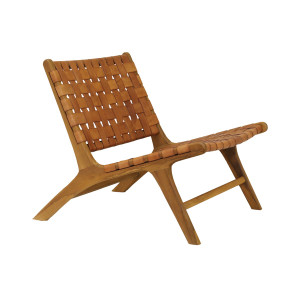 Marvin Woven Leather Chair