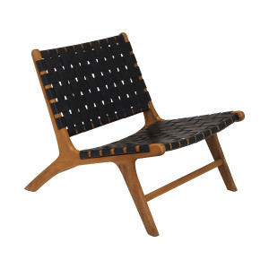 Dex Woven Black Leather Chair