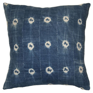 Batik Dots Indigo Pillow