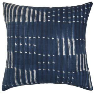 Lines in Indigo Euro Pillow
