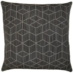Hex in Black Pillow
