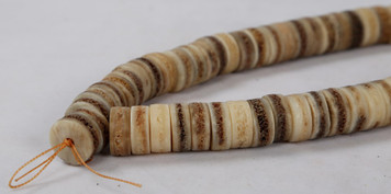 Urban Collection Bone Disk Bead Strand