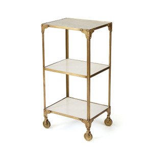 Aria Brass and Marble Cart