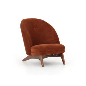 Gena Chair in Rust Fabric