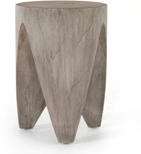 Paloma End Table in Weathered Grey