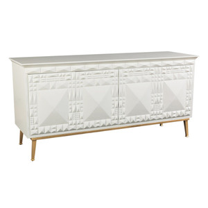 Motif lacquered Console in White