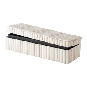 Bone Line Pattern Rectangular Box in Natural