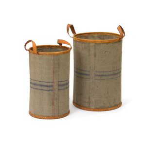 Recycled Jute Baskets -set of two