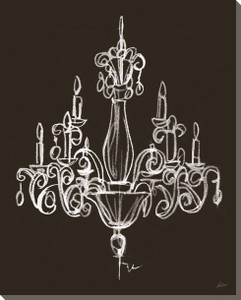 Elegant Chandelier on Black Canvas - #2
