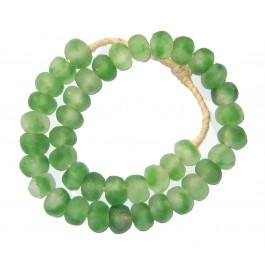 Decorative Sea Glass Trade Beads in Green