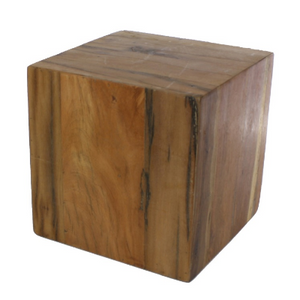 Reclaimed Wood Block Side Table- size small