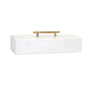 Harlowe Marble Box with Lid
