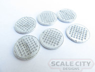 48-650 UTILITY, WATER, & SEWER COVERS SET O SCALE FKA KEIL LINE