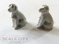 48-637 2 dogs sitting  figure O Scale FKA Keil Line