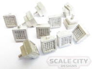 48-242 Roof Vent Clerestory Box Style Heavyweight O Scale