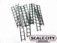 48-207 Plastic Freight Car Ladders 8 Rung FKA Keil Line O Scale