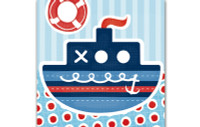 Little Chipipi Eco Greeting Card - Tug Boat