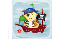 Little Chipipi Playtime Greeting Card - Pirate Ship