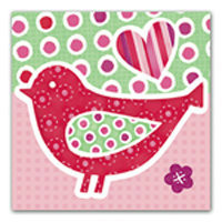 Little Chipipi Eco Greeting Card - Red Robin