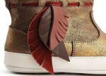 Bronze Shine / Coconut - Leather Detail