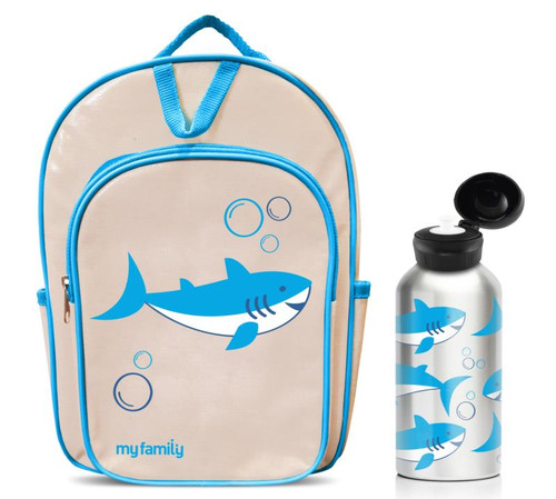 Shark Backpack & matching water bottle (each sold separately)