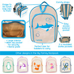 Backpack Features (display purpose only - this item is foxy design and not shark)