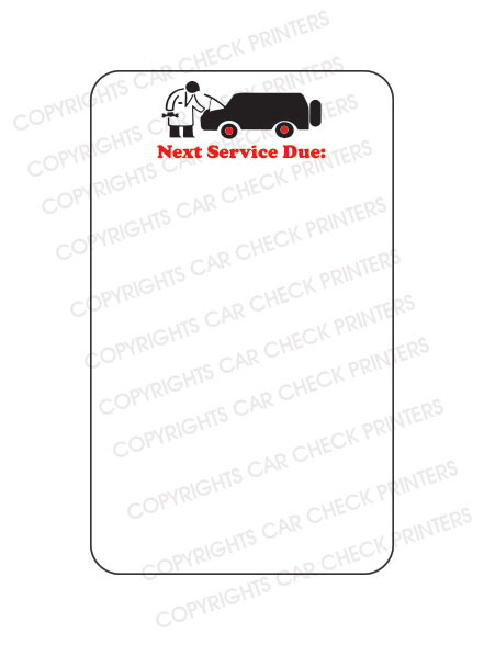 10044553-A6 MECHANIC CAR NEXT SERVICE DUE OIL CHANGE STICKERS