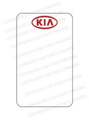10044553-B5 KIA OIL CHANGE STICKERS