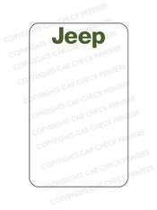 10044553-C4 JEEP OIL CHANGE STICKERS