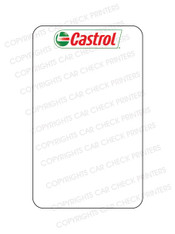 10044553-C6 CASTROL OIL CHANGE STICKERS