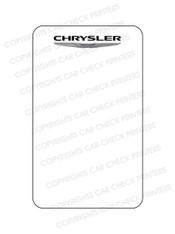 10044553-D2 CHRYSLER OIL CHANGE STICKERS