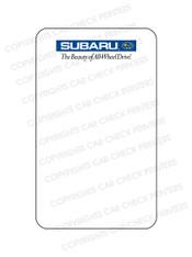 10044553-E3 SUBARU OIL CHANGE STICKERS