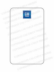 10044553-E4 GM OIL CHANGE STICKERS
