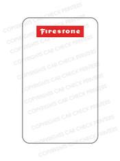 10044553-E5 FIRESTONE OIL CHANGE STICKERS