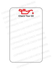 A1 - ONE PUMP CHECK YOUR OIL - OIL CHANGE STICKERS