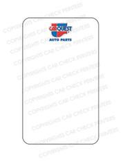 10044553-F4 CARQUEST OIL CHANGE STICKERS