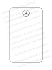 10049993-F6-VER Mercedes Benz Oil Change Stickers