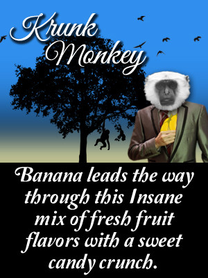 Banana leads the way through this Insane mix of fresh fruit flavors with a sweet candy crunch.