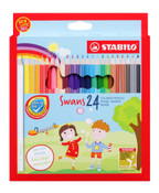 STABILO Swans Jumbo Coloured Pencils Full Length (Box Of 24)