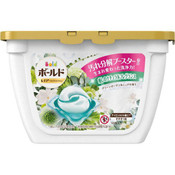 P&G Japan Bold Gel Ball 3D Green Garden & Mugen Scent 16 Pieces (with container)