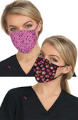 KOI Betsey Johnson Print Face Mask  (2 in 1 pack) - Rose Garden & Ditsy Floral Light Orchid