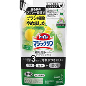 Kao Magiclean Daily Care Toilet Foam Spray Refreshing Citrus, Green, Refill 330ml