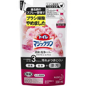 Kao Magiclean Daily Care Toilet Foam Spray Elegant Rose, Pink, Refill 330ml