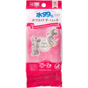 LEC Disney Mickey & Minnie 99% Pure Water Wipes - Hand & Mouth (Travel Pack) 25pcs x 2
