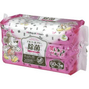 LEC Japan Disney Alcohol-free Disinfectant Wipes 60s x 3  - Mickey